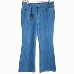 MASSIMO DUTTI / High Rise Cropped Flare Jeans